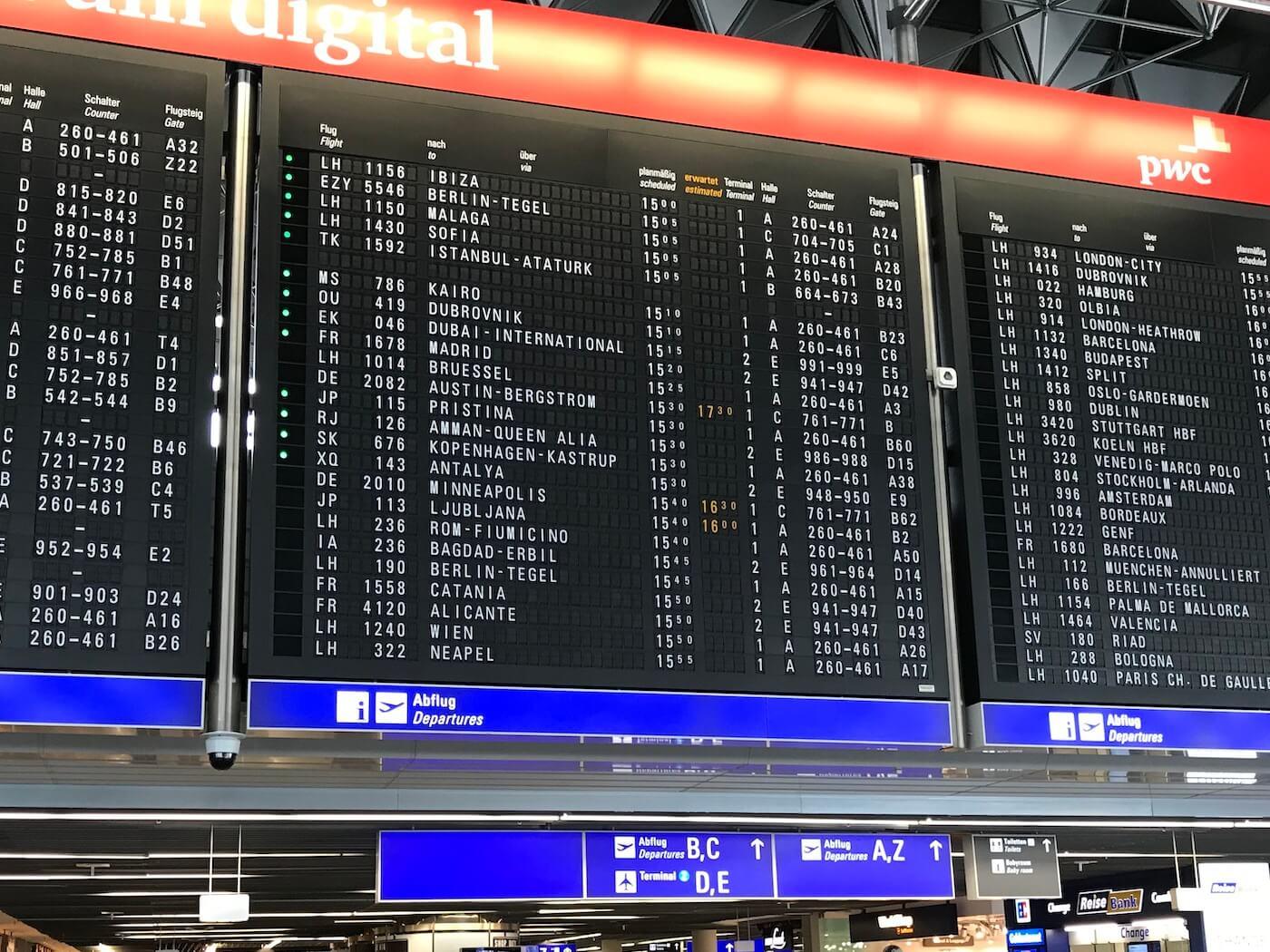 Gutschein zum Parken am Flughafen Frankfurt (FRA)