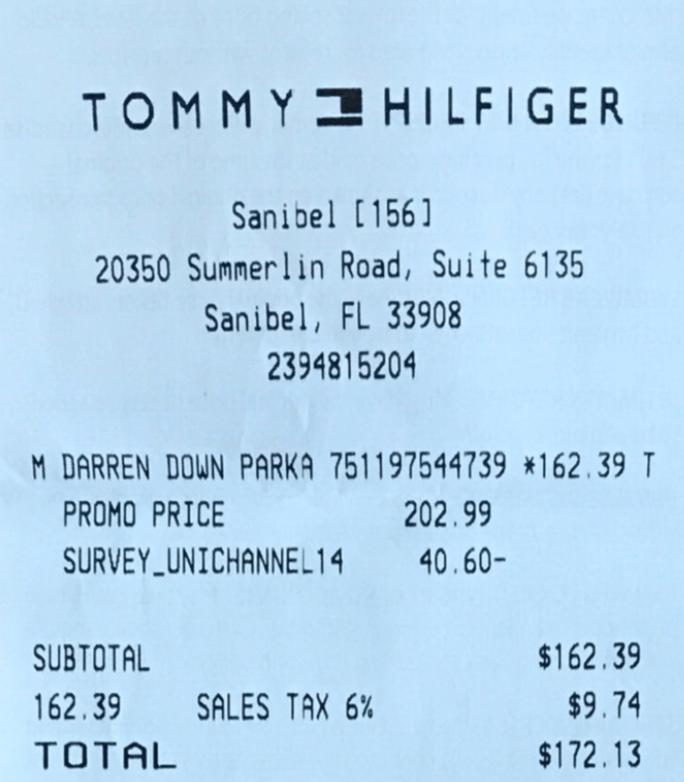 Tommy Hilfiger mit Gutschein aus Umfrage