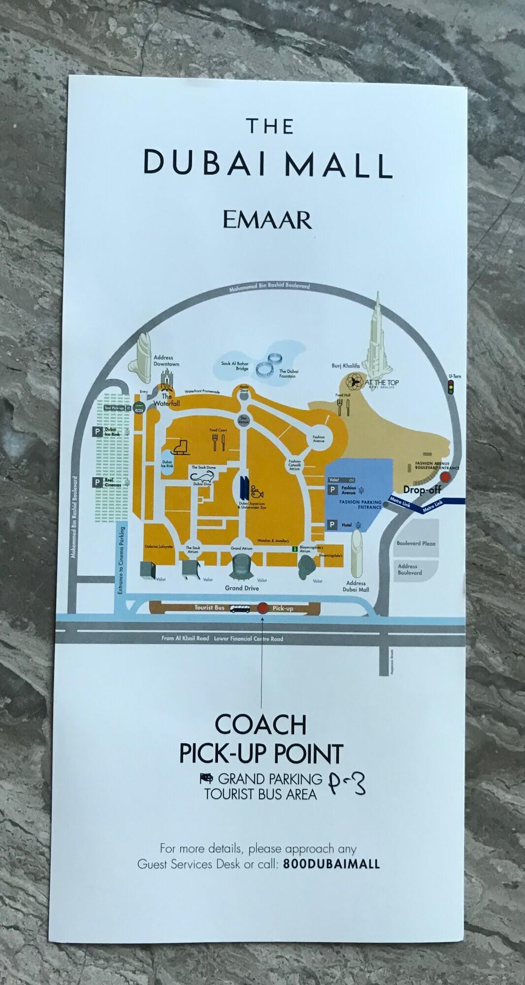 Fyler Busplan The Dubai Mall