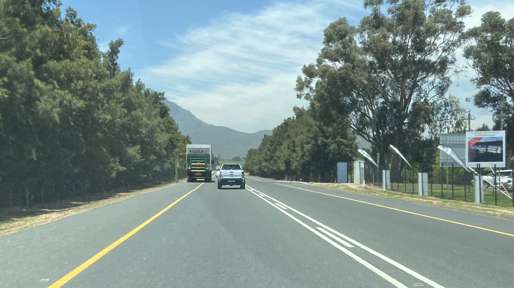 Überholen in Südafrika