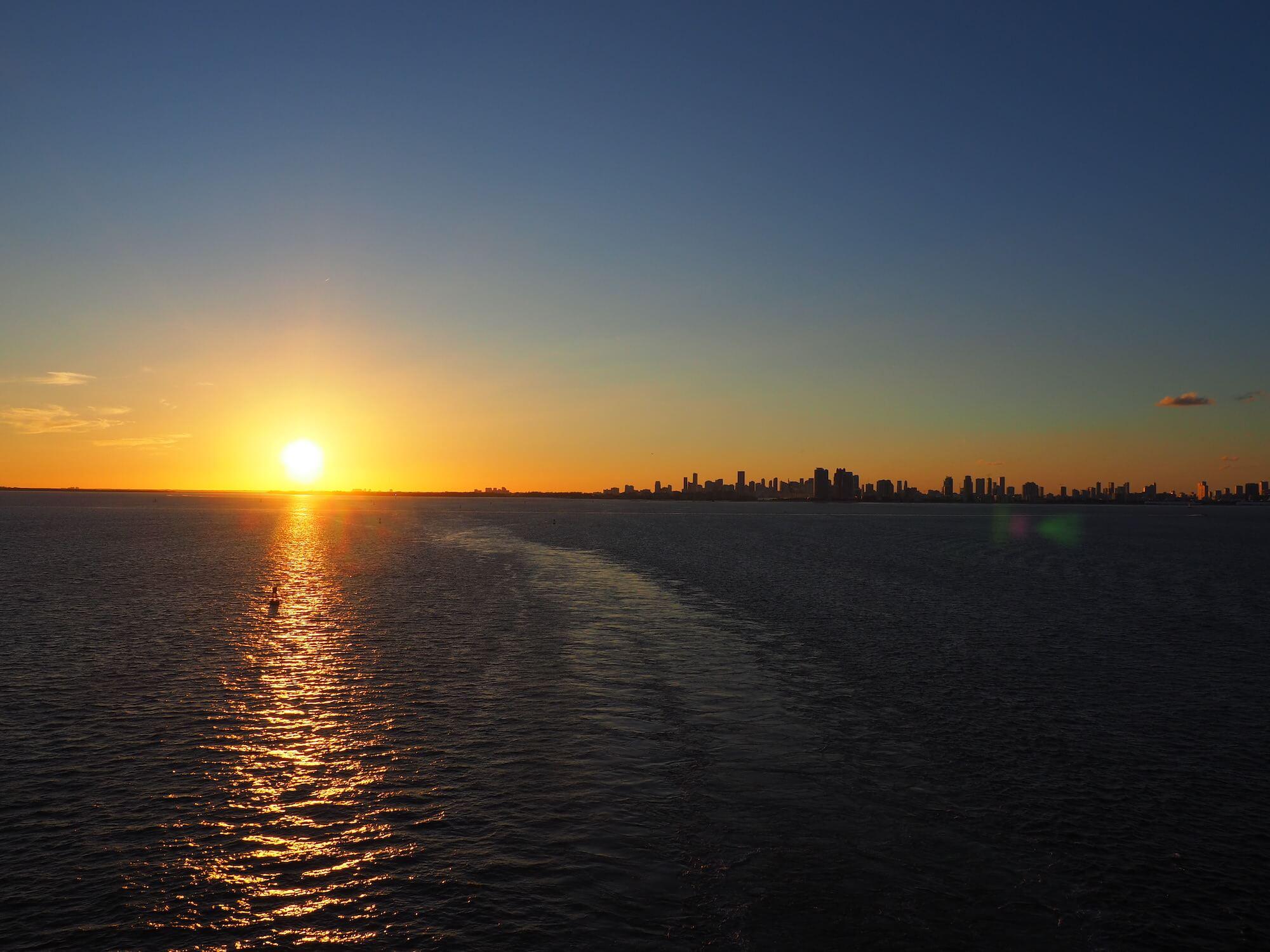 Sonnenuntergang Miami