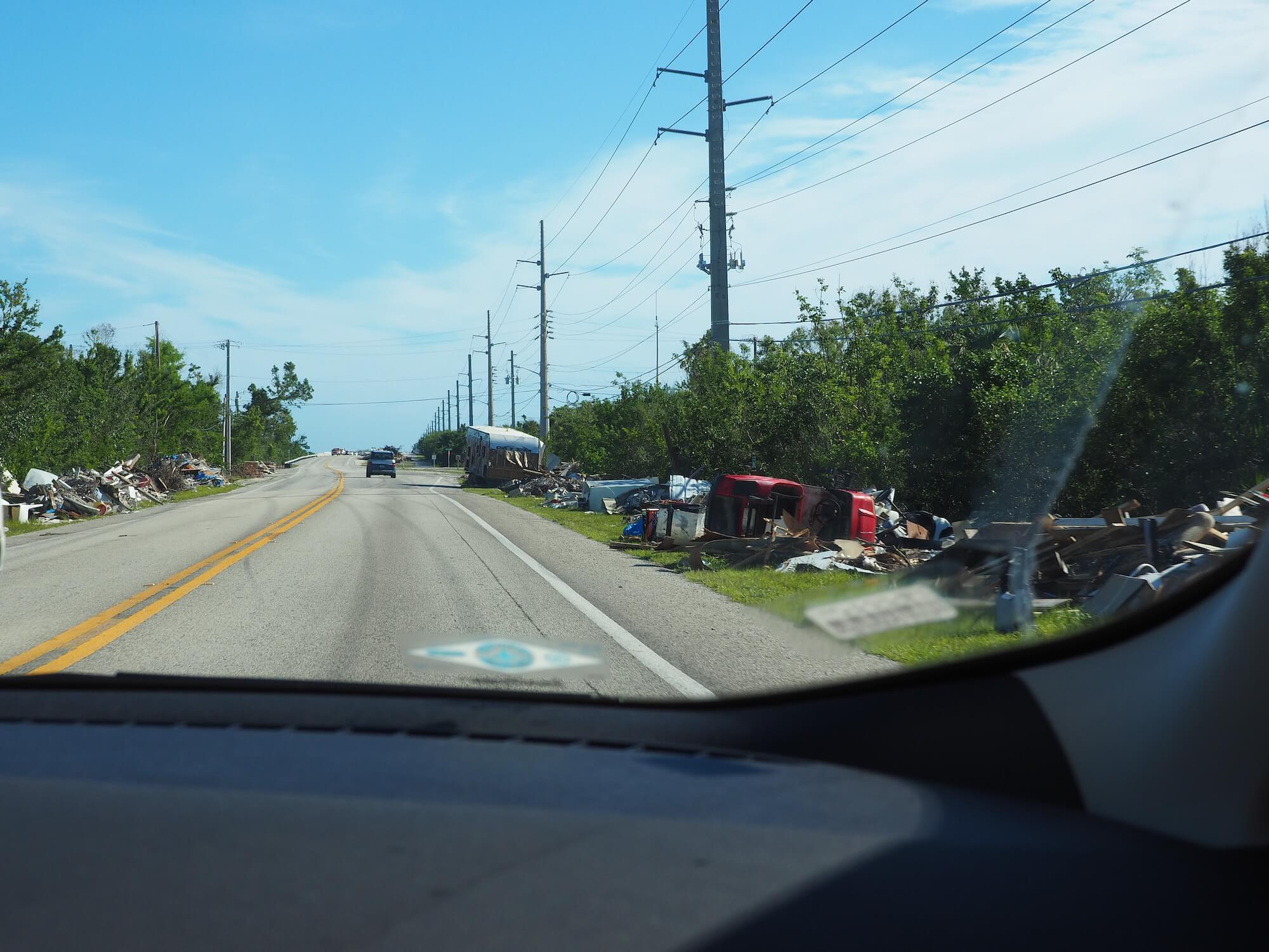 Aufräumarbeiten Hurrikan Irma