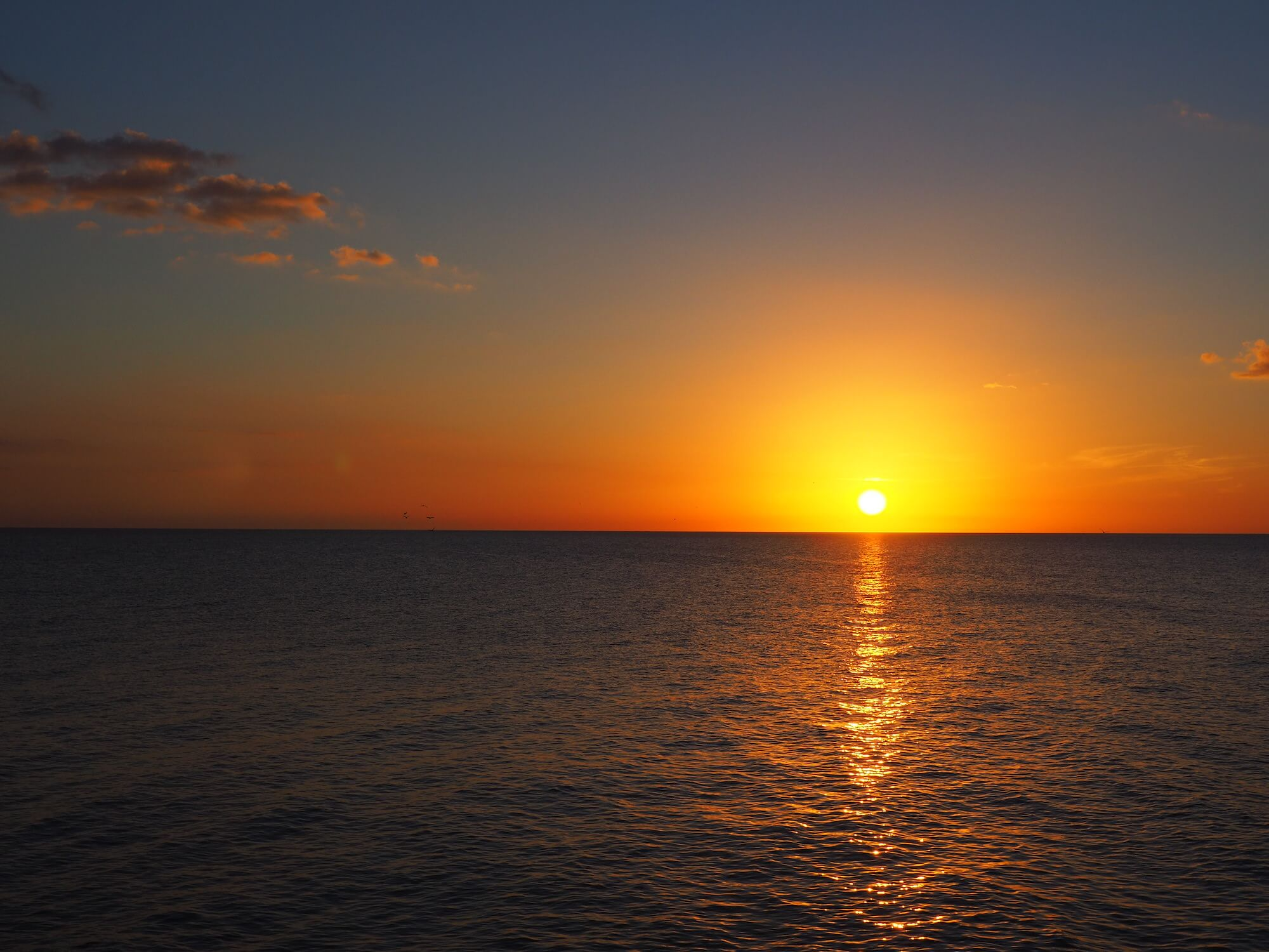 Sonnenuntergang in Naples