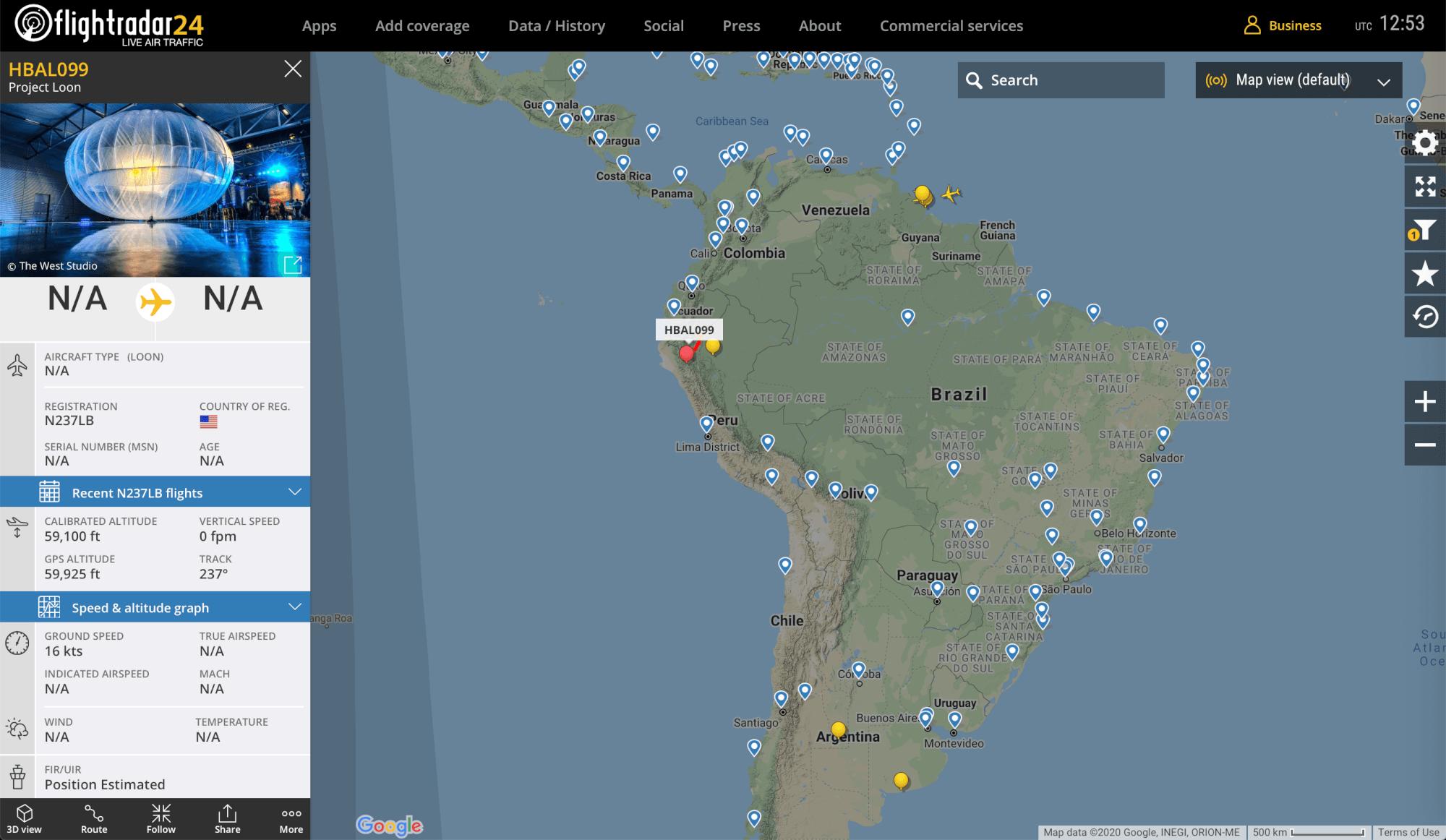 Loon flightradar24