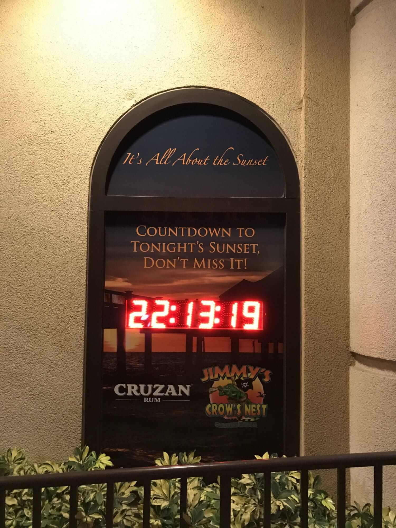 Countdown Sonnenuntergang